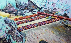 'Foundation' 2016 - Coloured Pencil on Paper 29.7 x 42cm $1100