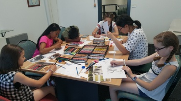 'Intro to Coloured Pencils for Kids' classes