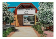 'Bellbridge Primary School' 2017 – Coloured Pencil on Paper 42.0 x 59.4cm SOLD