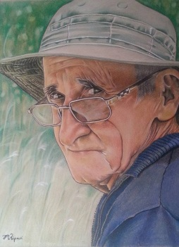 'Dad' 2015 - Coloured Pencil on Paper 29.7 x 42cm SOLD