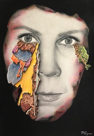 'Burnt' 2020 – Coloured Pencil on Paper 42.0 x 29.7cm